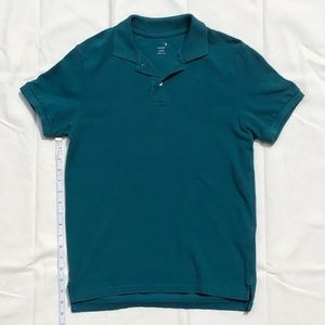 Old Navy washed teal polo, men's XS, never worn